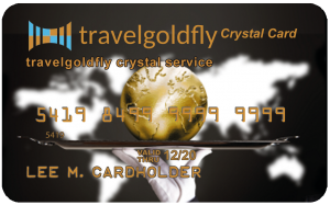 Travelgoldfly Crystal Card